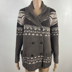 L.L Bean Merino wool double breasted sweater Small
